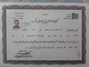 GilanianAsnaf.ir Hojjat MardanehZadeh Certificate - افزونه ها | شبکه خرید و فروش منابع دیجیتالی