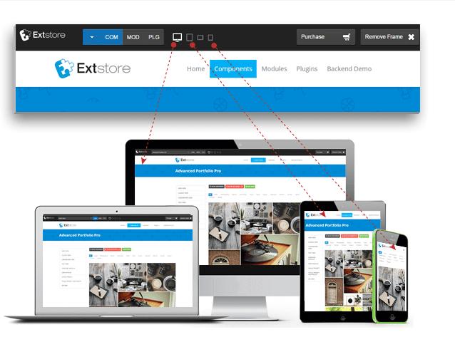 افزونه ساخت پیشنمایش قالب و سایت ExtStore Demo Toolbar