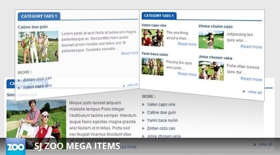 افزونه نمایش آیتم SJ Mega Items for Zoo