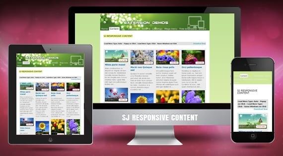 افزونه نمایش اسکرولری مطالب SJ Responsive Content