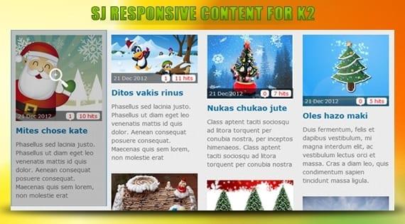 افزونه نمایش مطالب SJ Responsive Content for K2