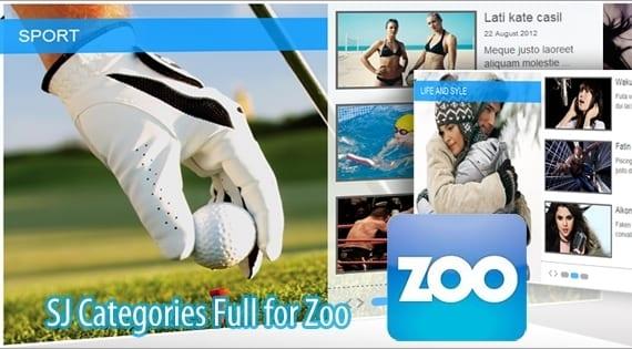 افزونه نمایش مطالب SJ Zoo Categories Full