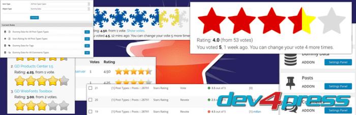 افزونه امتیاز دهی پست ها GD Star System وردپرس | The Best WordPress Plugins | طراحی سایت آسان