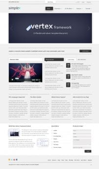 قالب وبلاگ و شرکتی S5 Simplex