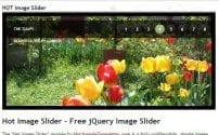 افزونه اسلایدر تصاویر Hot Image Slider