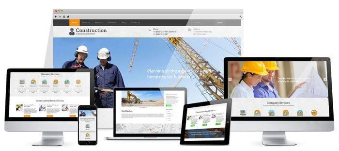 قالب خدمات فنی مهندسی Hot Construction