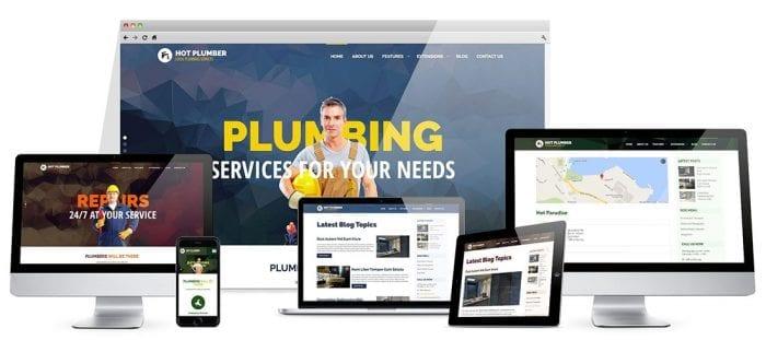 قالب خدمات فنی و تاسیسات Hot Plumber