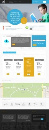 قالب هاستینگ و طراحی وب S5 EZ Web Hosting