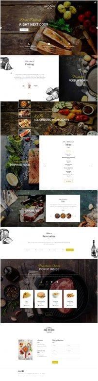 قالب رستوران و رزرو اینترنتی غذا S5 Fresh Bistro