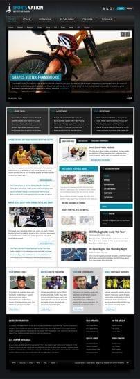 قالب خبر ورزشی و سازمانی S5 Sports Nation