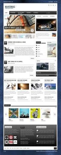 قالب مجله اینترنتی و خبر ورزشی S5 Maxed Mag