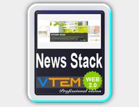 افزونه نمایش اخبار VTEM News Stack