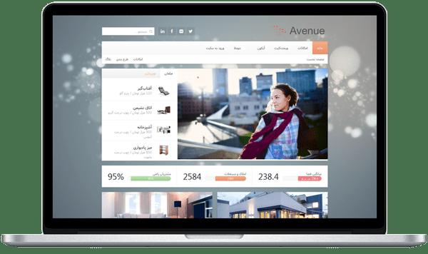 قالب فارسی طراحی و مجله اینترنتی Yoo Avenue | دانلود قالب فارسی | Joomla Magazine Templates