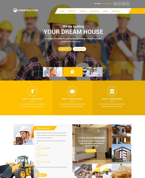 قالب شرکت مهندسی ساختمان BT Construction