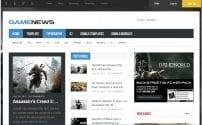 قالب خبری و مجله اینترنتی GK Game News