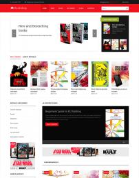 قالب فروشگاه کتاب و نوشت افزار JA Bookshop