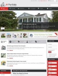 قالب مدیریت املاک و طراحی وب JA Portfolio