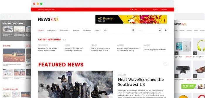 قالب خبری و مجله اینترنتی SP News365