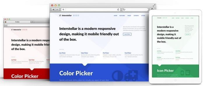 قالب طراحی وب و هاستینگ RT Interstellar