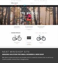 قالب فروشگاه دوچرخه و لوازم ورزشی TZ Bike Sport