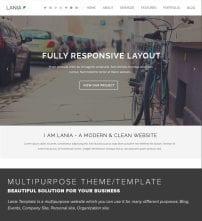 قالب طراحی وب و شرکتی TZ Lania