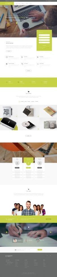 قالب طراحی وب و شرکتی S5 Big Business