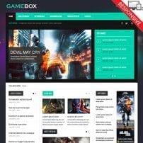 قالب مجله اینترنتی بازی VT GameBox