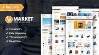 قالب فروشگاه و بازار اینترنتی SJ Market