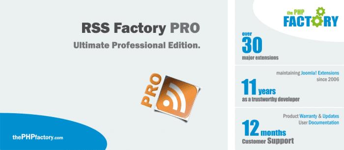 دانلود افزونه جستجوگر اخبار و مطالب جوملا   RSS Factory PRO Joomla Extensions