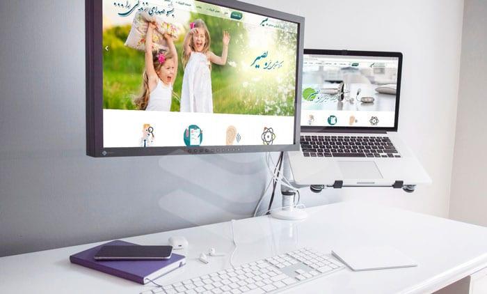 وب سایت آماده پزشکان و مراکز درمانی بصیر   Audiologist Joomla Template   Joomla Responsive Template