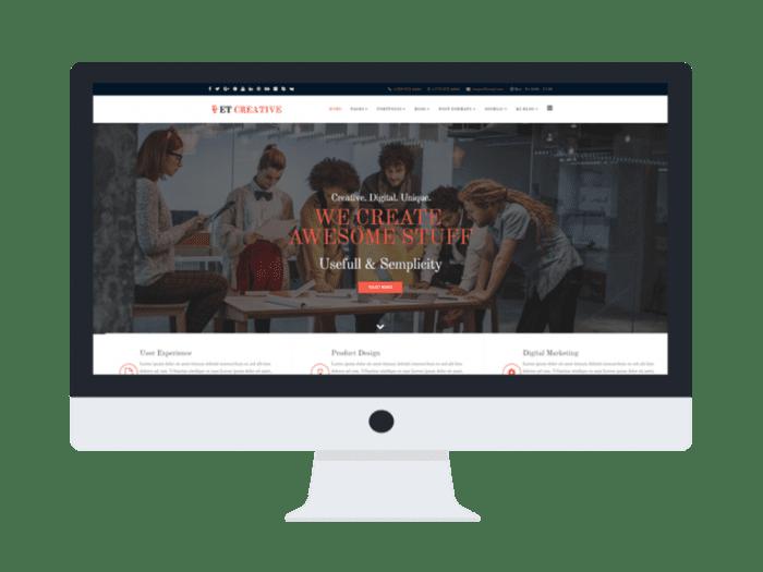 afzoneha com et creative - افزونه ها   طراحی سایت آسان