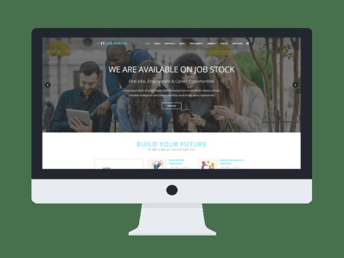 afzoneha com et job portal - افزونه ها   طراحی سایت آسان