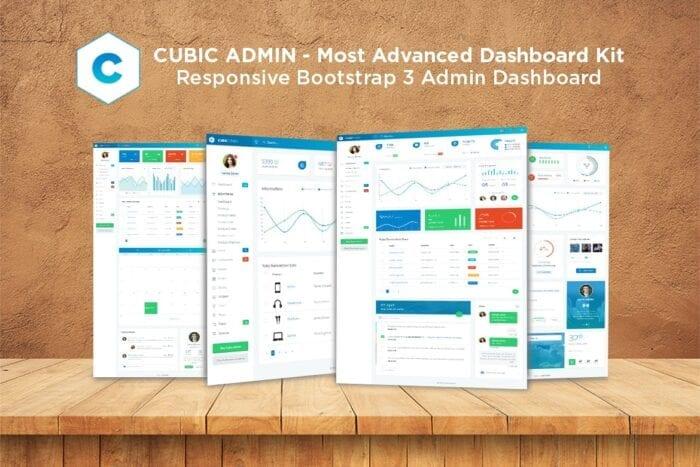 قالب مدیریت Admin Dashboard + UI Kit Framework Theme - Cubic
