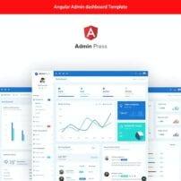 Admin Press Angular 10 dashboard Template