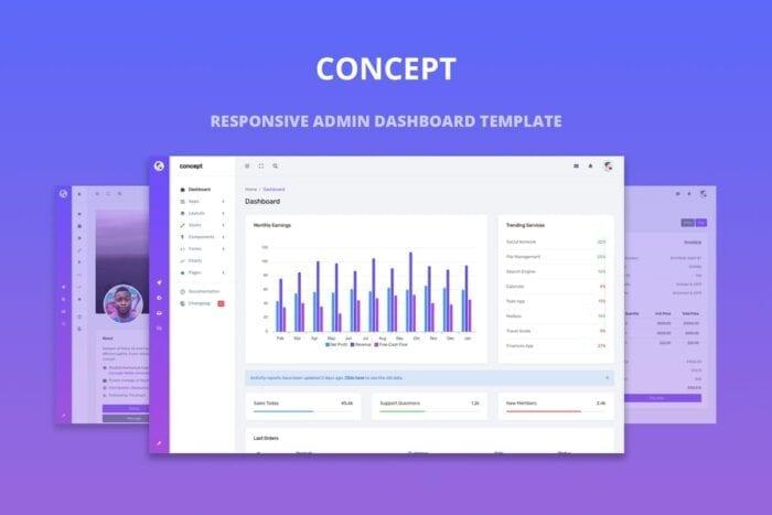 Concept - Responsive Admin Dashboard Template