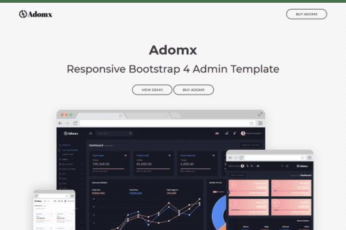 Adomx - Responsive Bootstrap 4 Admin Template