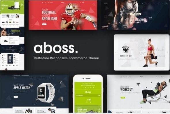 قالب فروشگاه لوازم ورزشی و بدنسازی Aboss - Opencart 3 Theme for Sport Shop