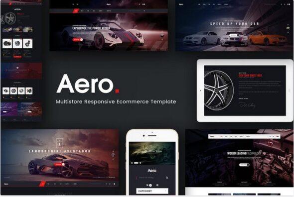 قالب فروشگاه لوازم خودرو Aero - Car Accessories Opencart 3.x Theme