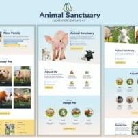قالب آماده تمپلیت کیت Animal Sanctuary - Non-Profit Template Kit