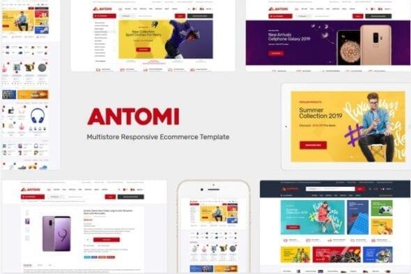 قالب فروشگاهی Antomi - Multipurpose OpenCart Theme