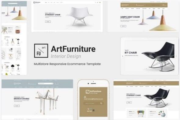 قالب فروشگاه مبلمان و دکوراسیون داخلی ArtFurniture - Responsive OpenCart Theme