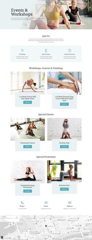 قالب آماده تمپلیت کیت Asaya - Yoga & Meditation Elementor Kit