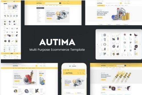 قالب فروشگاه لوازم خودرو Autima - Accessories Car OpenCart Theme