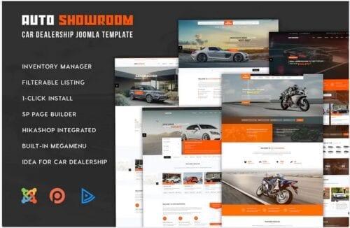 قالب تجاری جوملا Auto Showroom - Car Dealership Joomla Template