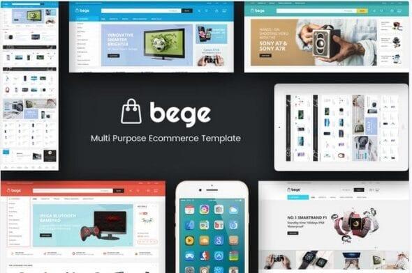 قالب فروشگاه تجارت الکترونیک Bege - Responsive Opencart Theme