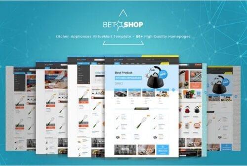 قالب تجاری و فروشگاهی جوملا BetaShop - Kitchen Appliances VirtueMart Template
