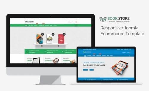قالب فروشگاهی و ریسپانسیو جوملا Bookstore - Responsive Joomla Ecommerce Template