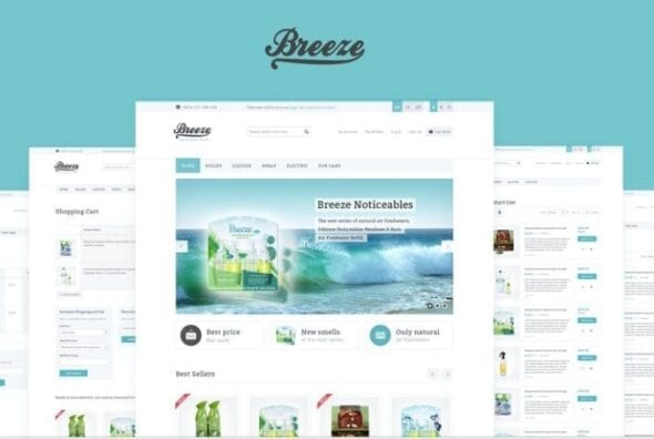 قالب فروشگاه لوازم آرایش و بهداشتی Breeze — Responsive OpenCart Theme