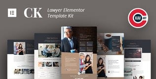 قالب آماده تمپلیت کیت CK - Lawyer Template Kit