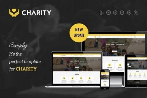 قالب تجاری ریسپانسیو جوملا Charity - Nonprofit, Fundraising Joomla Template